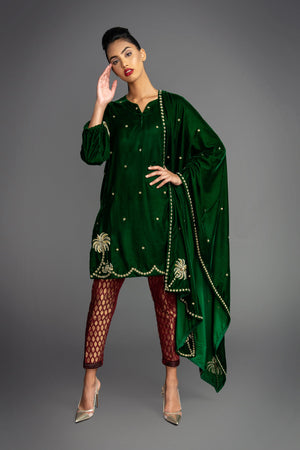 Palm Velvet Kurta Suit