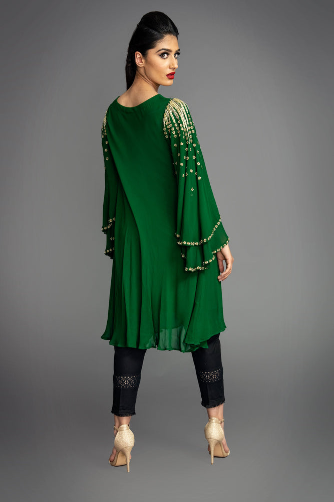 Emerald Layered Sleeve Tunic