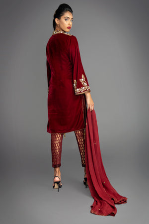 Load image into Gallery viewer, Katrina Velvet Tunic Suit