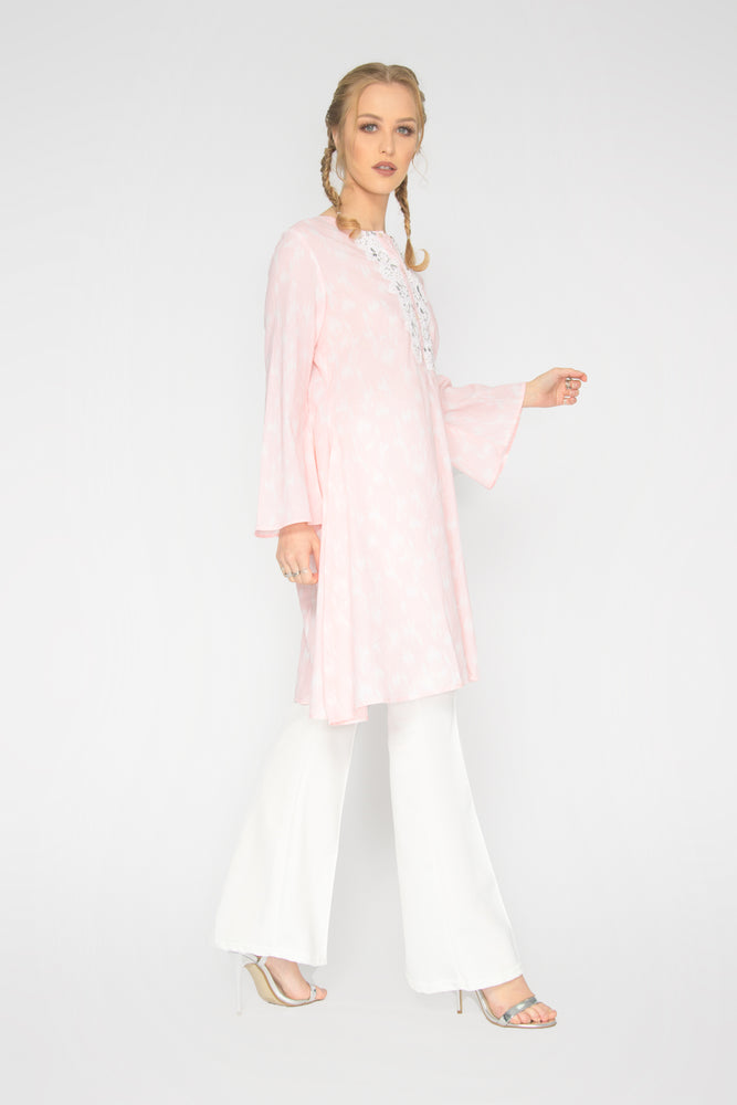 Load image into Gallery viewer, Pink Kurta Top