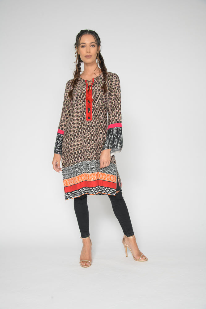 Ethnic Red Kurta Top