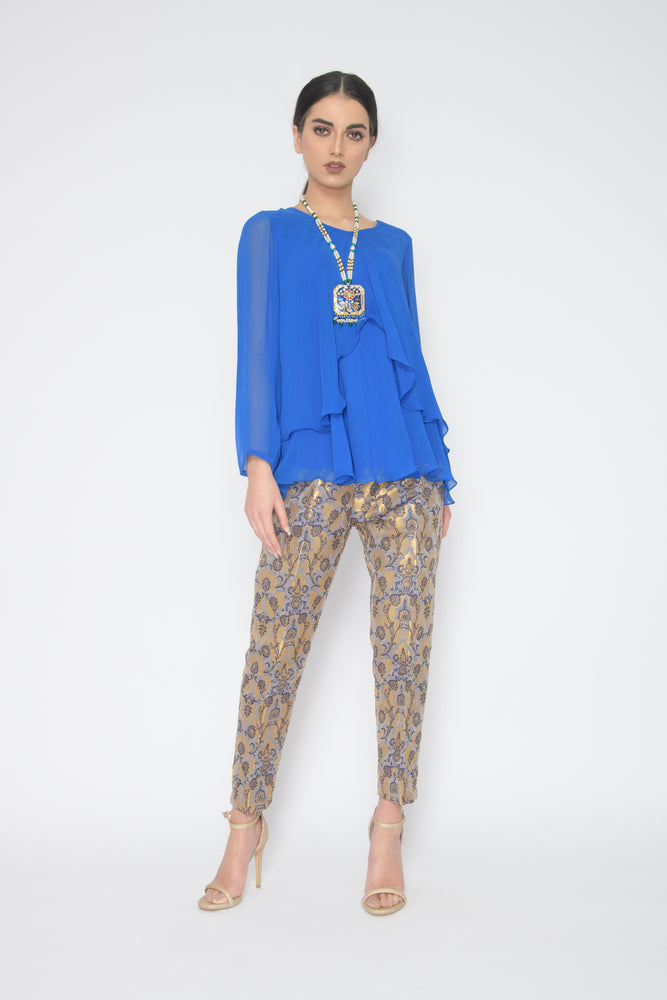 Eden Bias Blue Tunic Suit