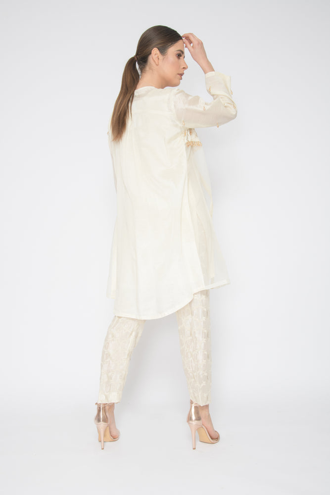 Haya Cream Jacket Suit