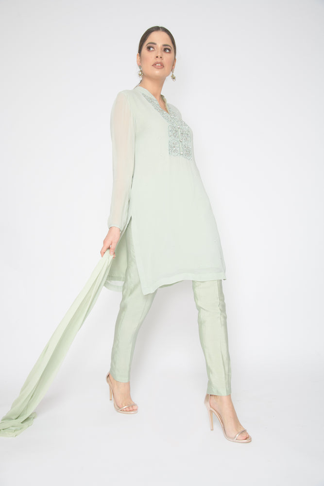 Simran Mint Kurta Suit