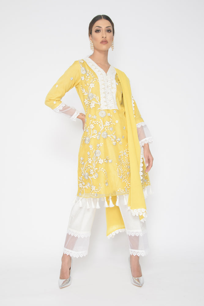 Tina Yellow Bootcut Suit