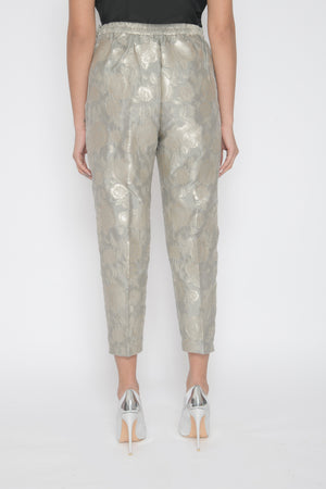 Silver Brocade Trousers