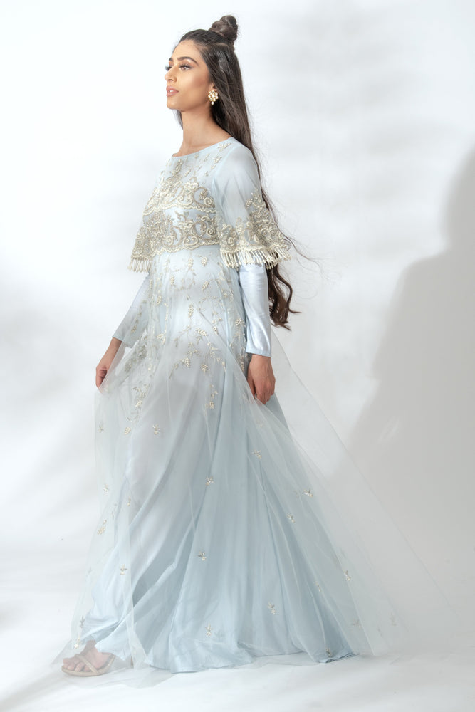 Farida Ice Blue Gown