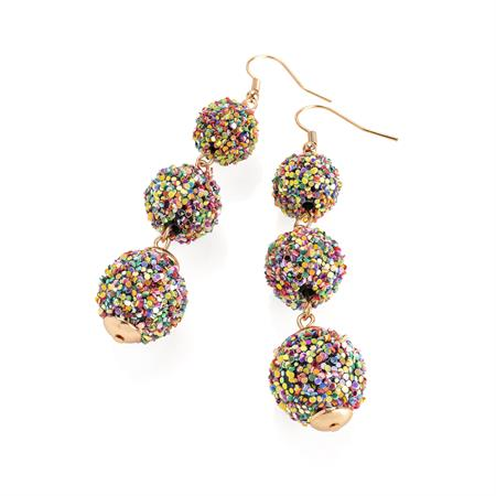 Load image into Gallery viewer, Rose Gold Bead Earrings