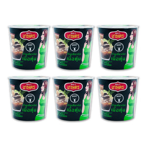 Kaset Instant Quick Meal Bean Vermicelli Boat Noodle Beef Flavour 35g. (Pack of 6)