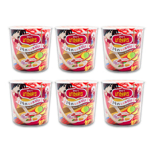Kaset Instant Quick Meal Rice Porridge Fish Seafood Spicy 30g. (Pack of 6)