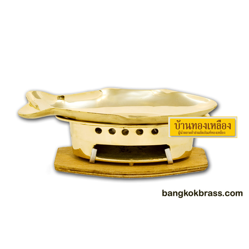 Bangkok Brass : Whole Fish Stove Brass Set