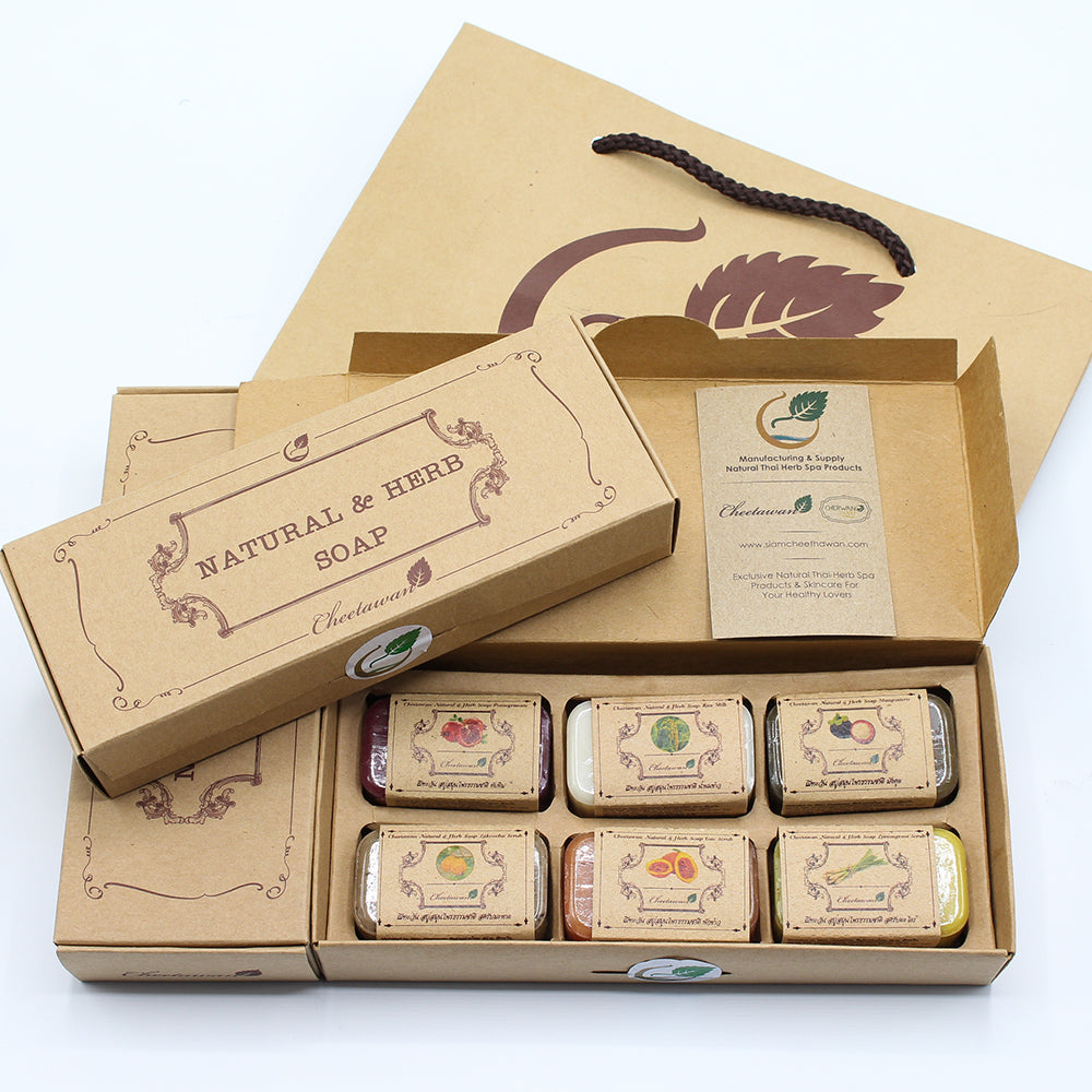 Cheetawan Natural & Herb Soap Box 50g. Set 6 pcs.