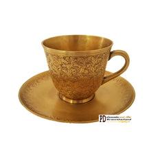 Load image into Gallery viewer, PD Brass Thailand : Brass Teacup Floral Pattern