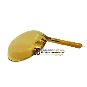 PD Brass Thailand : Griddle Handle Brass Pan
