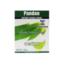Load image into Gallery viewer, Ramwong 100% Natural Pandan Instant Herbal For Drink (0.63 oz.)