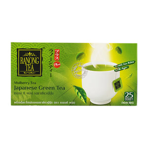 Ranong Plus Mulberry Green Tea Japanese Flavored 2g. (25 sachets)
