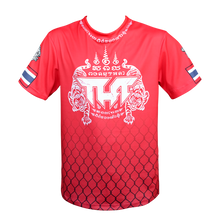 Load image into Gallery viewer, TUFF Muay Thai Shirt True Power Double Tiger Red