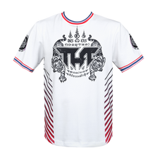 Load image into Gallery viewer, TUFF Muay Thai Shirt True Power Double Tiger White