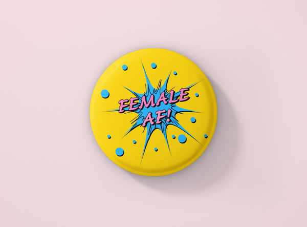 Female AF Pin Badge