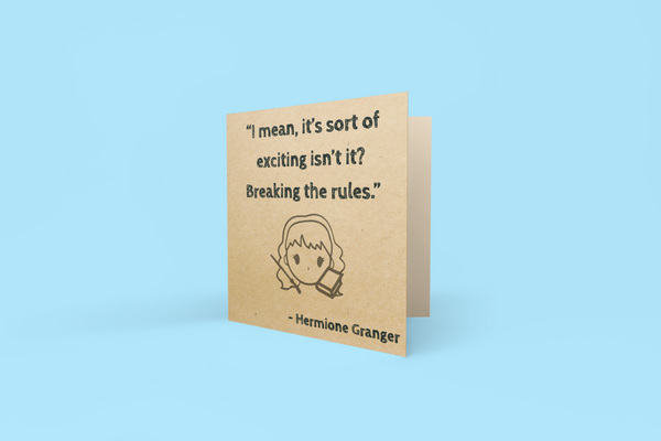 'Breaking the Rules' Greeting Card