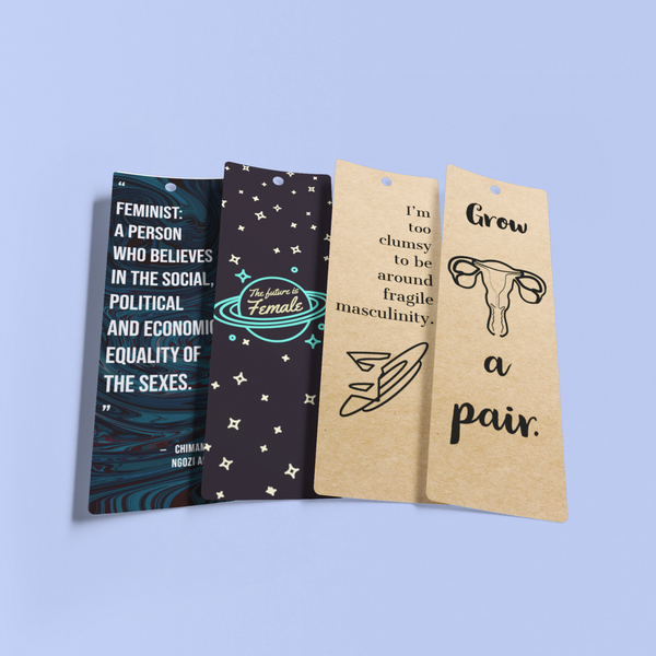 Collection of 4 Feminist Bookmarks