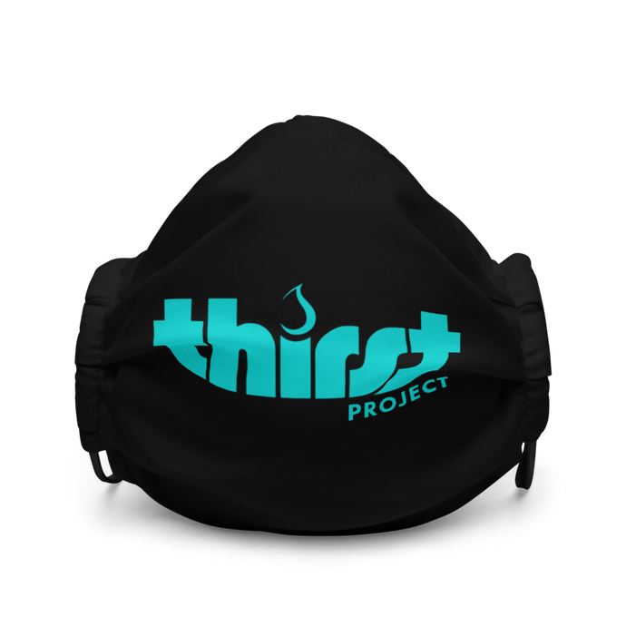 Thirst Project Single Logo Black Premium face mask