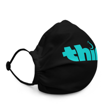 Load image into Gallery viewer, Thirst Project Single Logo Black Premium face mask