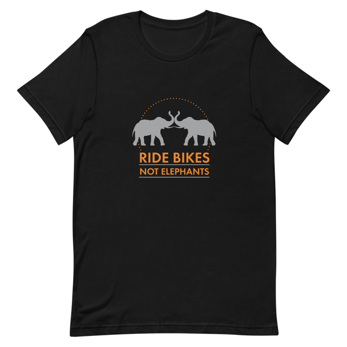Ride Bikes Not Elephants for World Animal Protection Short-Sleeve Unisex T-Shirt