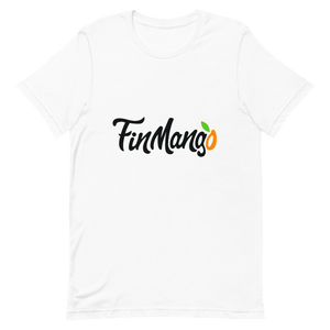 FinMango Short-Sleeve Unisex White T-Shirt