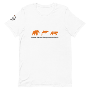 "World Animal Protection ""I Move"" White Short-Sleeve Unisex T-Shirt"