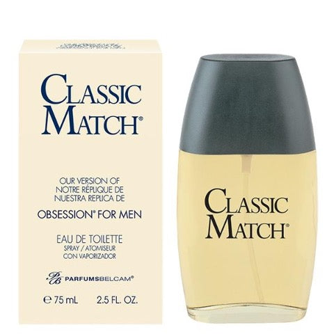 Classic Match Eau de Toilette Spray, version of Obsession* for men