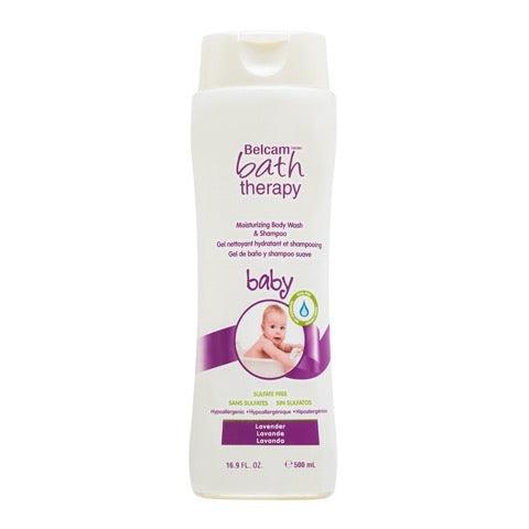 Belcam Bath Therapy Moisturizing Body Wash & Shampoo for Baby Lavender