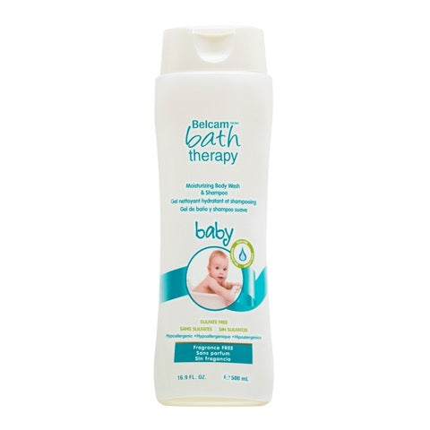 Belcam Bath Therapy Moisturizing Body Wash & Shampoo for Baby Fragrance Free