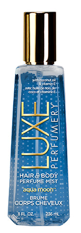 LUXE PERFUMERY Aqua Moon Hair & Body Perfume Mist 236 mL, 8.0 FL. OZ.