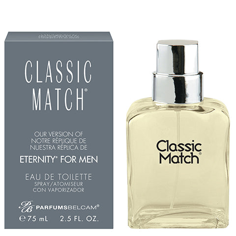 Classic Match Eau de Toilette Spray, version of Eternity* for men