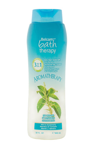 Belcam Bath Therapy Energizing 3-in-1 Body Wash, Bubble Bath and Shampoo Mint & Rosemary