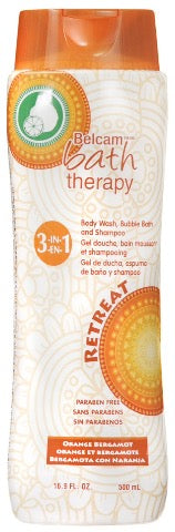 Belcam Bath Therapy 3-in-1 Body Wash, Bubble Bath & Shampoo Orange Bergamot