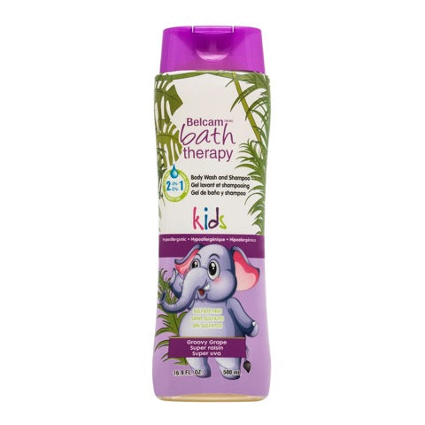 Belcam Bath Therapy Body Wash & Shampoo for Kids Groovy Grape