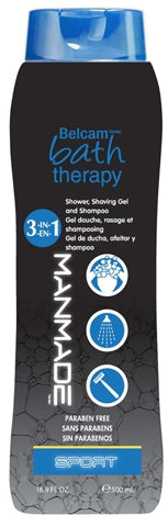 Belcam Bath Therapy Manmade 3-in-1 Shower, Shaving Gel & Shampoo Sport