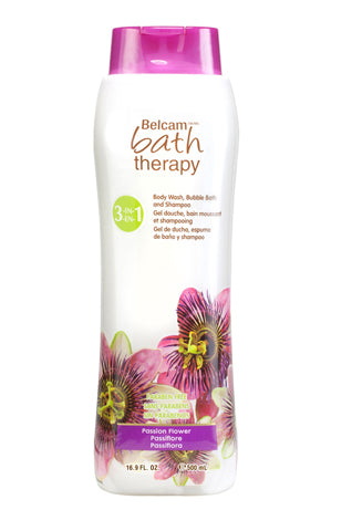 Belcam Bath Therapy Florals 3-in-1 Body Wash, Bubble Bath and Shampoo Passion Flower