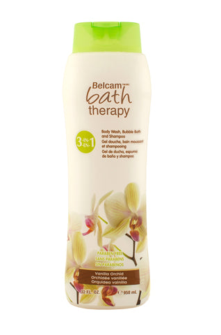 Belcam Bath Therapy Florals 3-in-1 Body Wash, Bubble Bath and Shampoo Vanilla Orchid