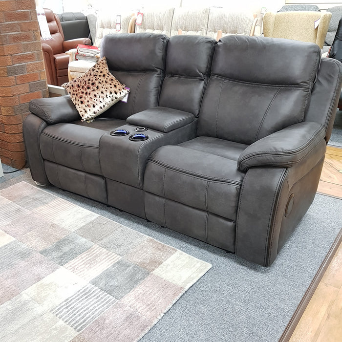 Tech Electric Reclining 2 Seater Console Sofa