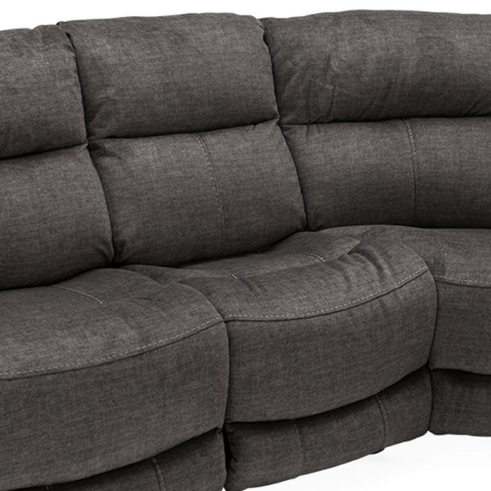 Caldero Corner Reclining Group Armless Section - Grey Fabric