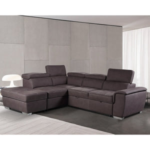 Corner Ottoman Sofa with Pullout Bed