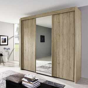 Sliding door San remo oak mirrored wardrobe