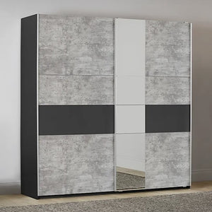 Sliding Door Wardrobe Stone Grey