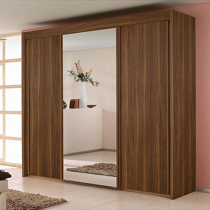 Sliding Door Wardrobe Royal Walnut