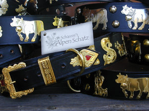 Alpen Schatz® luxurious Swiss dog collars represent a family craft dating back over 200 years. Made of the finest leather they are durable and crafted to last the lifetime of the dog. They also make perfect gifts.
