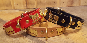 "1"" Small Contemporary Swiss Dog Collar"