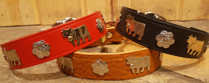 "1 1/4"" Medium Traditional Swiss Dog Collar"